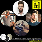 Chris Lane SET OF 4 BUTTONS or MAGNETS or MIRRORS pinback pins fix tour #1441