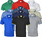 Mens Short Sleeve Plain Tipping Polo Shirt T shirt Top Casual Cotton Mix