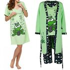 Happy Mama. Women's Maternity Frog Nightie / Pyjamas /Robe SOLD SEPARATELY. 780p