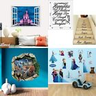 Kids Castle/Dinosaurs/Frozen/Words Bedroom Decor Removable Wall Stickers Disney