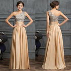 Long Bridesmaid Wedding Party Dress Gown Evening Formal Cocktail Pageant US Size
