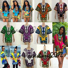 Unisex African Shirt Dashiki Print Men Women Hippie BOHO Top DRESS Blouse Tribal