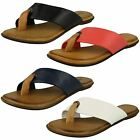 Ladies Leather Collection Flat Toepost Sandal / Threaded Post
