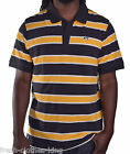 LRG Men's Yellow Black Stripe Rugby Polo Shirt Choose Size