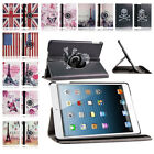 360 Rotating PU Leather Folio Smart Case Cover Stand for iPad Air 1 iPad 5