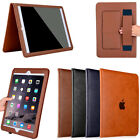 Luxury Slim PU Leather Handle Card Pocket Stand Case Smart Cover For Apple iPad