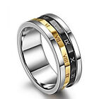 Spinner Ring Necklace Roman Numerals Code Stainless Steel Band Mens Womens 8MM