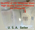 100X Lot High Quality Tempered Glass Screen Protector for iPhone 5S 5 & SE