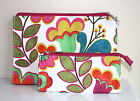 FLORAL TULIPS Makeup Skincare Clinique Brush or Mini Cosmetic Bags