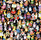 I Spy Cat Fabric Elvis Batman Robin Cowboy Chef Jazz Witch Devil Cats FQ #2