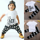 Summer Baby Boy Toddler Kids Tracksuit Casaul Tops+Long Pants 2pcs Outfits Set