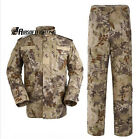 Army Military SHIR+PANTS Waterproof Camouflage Combat Uniform HLD XS-XXL