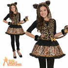 Sassy Spots Leopard Teen Child Costume Girls Animal Halloween Cat Fancy Dress