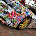 Jdm Cartoon Graffiti Car Sticker Bomb Wrap Sheet Decal Motorbike Vinyl Skateboar