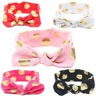 Baby Girls soft Cotton Elastic Band Hair Tie Accessory Dots