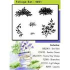 Art Impressions Watercolor Stamp Set Flowers Foliage Bridge Girls Boys Palm Tree