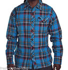 Lost Men's Afterburn Blue Heavy Plaid Flannel Button Up Shirt Choose Size