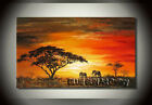 Large Modern Abstract Oil Painting African scenery Canvas Wall Decor Art ABD80