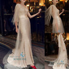 Mermaid Sequins Long Party Pageant Evening Dress Bridal Gown Prom Cocktail Dress
