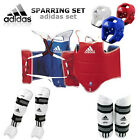 Adidas TKD WTF Approved TAEKWONDO Sparring Gear Set & Free Double Mouth Guard