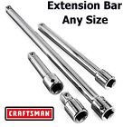 """Craftsman 1/4"""" 3/8"""" 1/2"""" in. Drive Extension Bar - Socket Ratchet - ANY SIZE"""