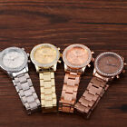 Fashion Womens Mens Watches Vogue Crystal Stainless Steel Wrist Watch Luxury New