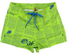 "JOHN GALLIANO ""Newspaper Neon 1O"" Board Shorts Bermudas Badehose (Grün) NEU"