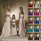 Maxi Long sash wedding party prom bridesmaid ballgown evening dress crinoline