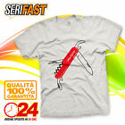 MACGYVER SWISS ARMY KNIFE TV t-shirt felpa maglia film serie tv HAPPINESS RETRO