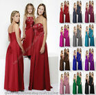 Maxi Long sequin beads wedding party prom bridesmaid ballgown evening dress gown