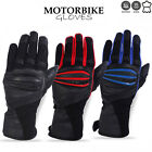 Motorbike Gloves Cowhide Leather Windbreaker Fabric Padded Palm Protection