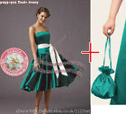 Dolly bag + Long sash party prom bridesmaid ballgown cocktail evening dress gown