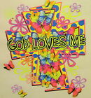 CHRISTIAN OUTFITTERS GOD LOVES ME JESUS INSPIRATIONAL SHIRT #1120