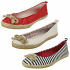Ladies Spot On Canvas Slip-On Shoes