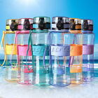 1000ml Sport Travel Gym Outdoor School Camping Water Bottle Carry Strap BPA Free