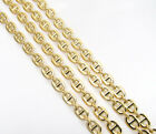 """16-24"""" 3mm 10k Yellow Real Gold Tight Mariner Anchor Curb Chain Necklace Mens"""