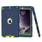 Blue Shockproof Defensive Heavy Duty Hybrid Case Cover for iPad 2 3 4 Mini Air