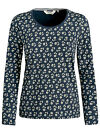 SEASALT NEW NAVY FALLING FLOWER TIANNA LONG SLEEVE T SHIRT COTTON TOP £29 8-20