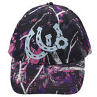 MUDDY GIRL PURPLE PINK CAMO BARREL RACER COUNTRY COWGIRL UP HORSESHOE HAT CAP