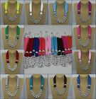 New Arrival Charms Fashion Women Lady short Jewelry Silver Necklace Scarf