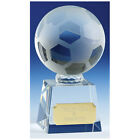 FOOTBALL SOCCER BALL GLASS CRYSTAL VICTORY AWARD 5 SIZES AVAILABLE ENGRAVED FREE