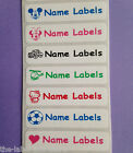 Iron on Identity Personalised Waterproof Name School Clothing Label Tags Tapes