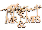Wooden Branch Shape with Birds, Family Tree Wedding Frame-'MR & MRS' Wall Art