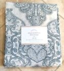 "POTTERY BARN ~ALANA MEDALLION SHEER DRAPE PANEL 84"" or 96""~BLUE ~WINDOW COVERING"