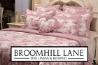 Brand New! 100% Cotton Classic French Toile De Jouy Patchwork Bedspread Pink Red