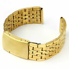 StrapsCo Yellow Gold  Stainless Steel Watch Band Strap with Button Release