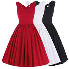 New Sexy Womens V-Neck Vintage Style Retro Swing 50's Party Prom Cocktail Dress