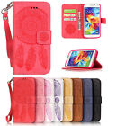 Dreamcatcher Embossing Leather Pattern Magnetic Stand Cover Case for Samsung S5