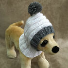 Pets Clothes Hand Knit Pullover Hoodie Snow Hat for Small Dog xxs xs s
