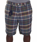 Polo Ralph Lauren Men's Reversible Solid Plaid Shorts Size 38